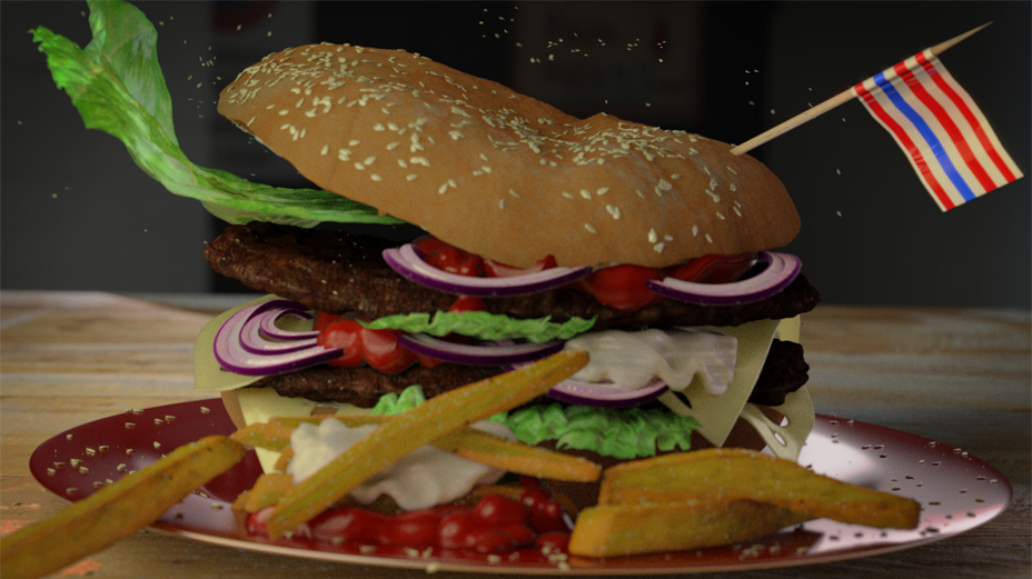 Hamburger in Action