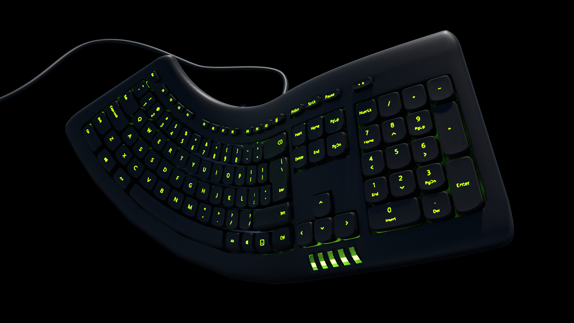 fliegende Tastatur