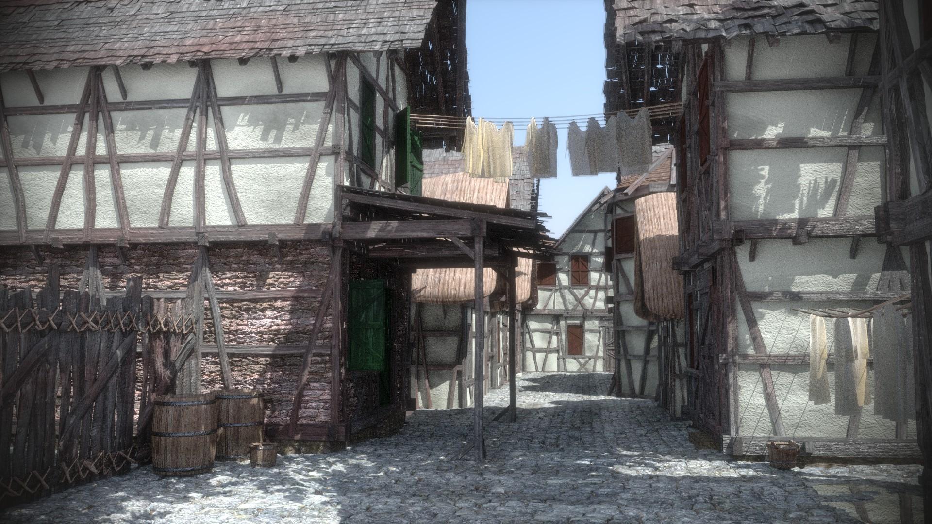mittelalterliches Dorf